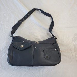 Cold Mountain Navy leather Bag
